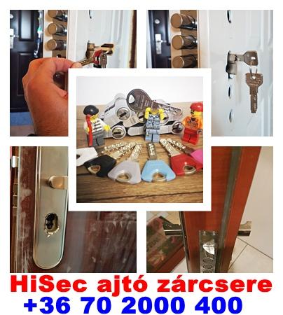 HiSec ajtó zárcsere